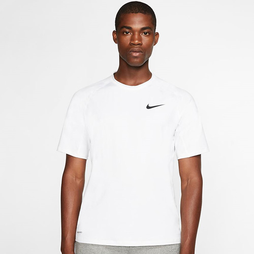 Men's Pro Short-Sleeve Top, White, swatch