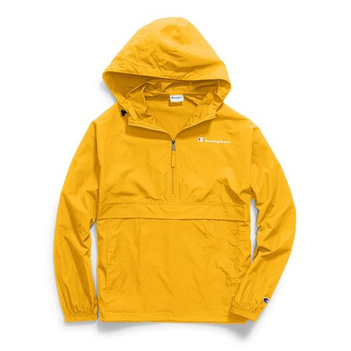 Men's Packable Jacket, Gold, Yellow, swatch