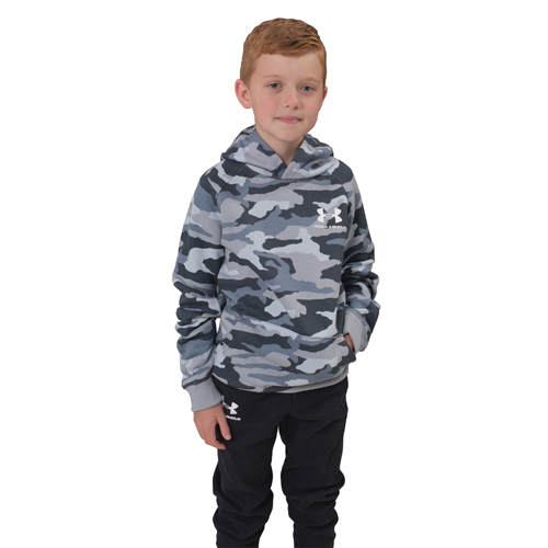 Boy's Rival Camo Printed Hoodie, Heather Gray, swatch