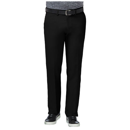 Men's 18 Pro Straight Fit Flat Front Golf Pants, Black, swatch