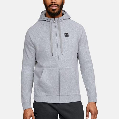 Men's Rival Fleece Full-zip Hoodie, Heather Gray, swatch