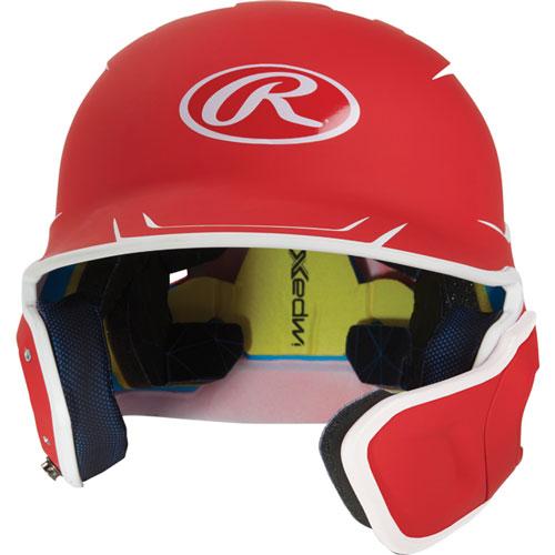 Junior MACH Matte Right-handed Batting Helmet, Red, swatch