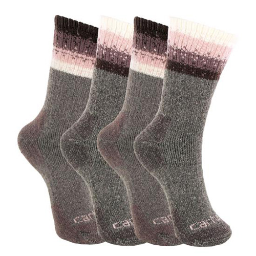 Women's Wool Blend Socks 4 Pack, Purple, swatch