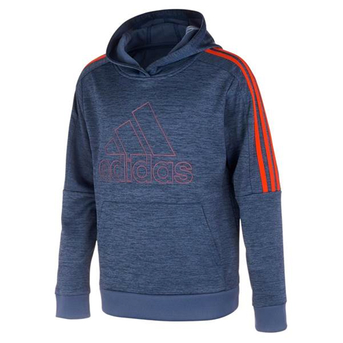 Boy's 3 Stripe Pullover Hoodie, Black, swatch