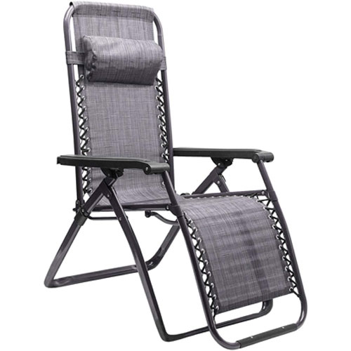 Zero Gravity Chair, Charcoal,Smoke,Steel, swatch