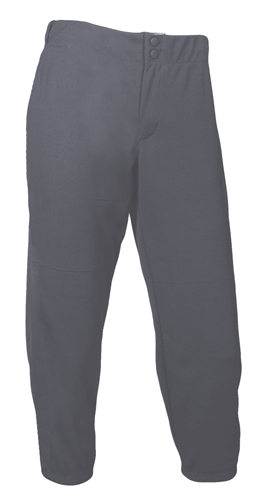 Women's Low Rise Athletic Cut Softball Pant, Gray, swatch