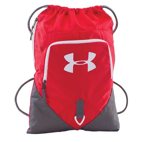 Undeniable Sackpack, Red/Gray, large