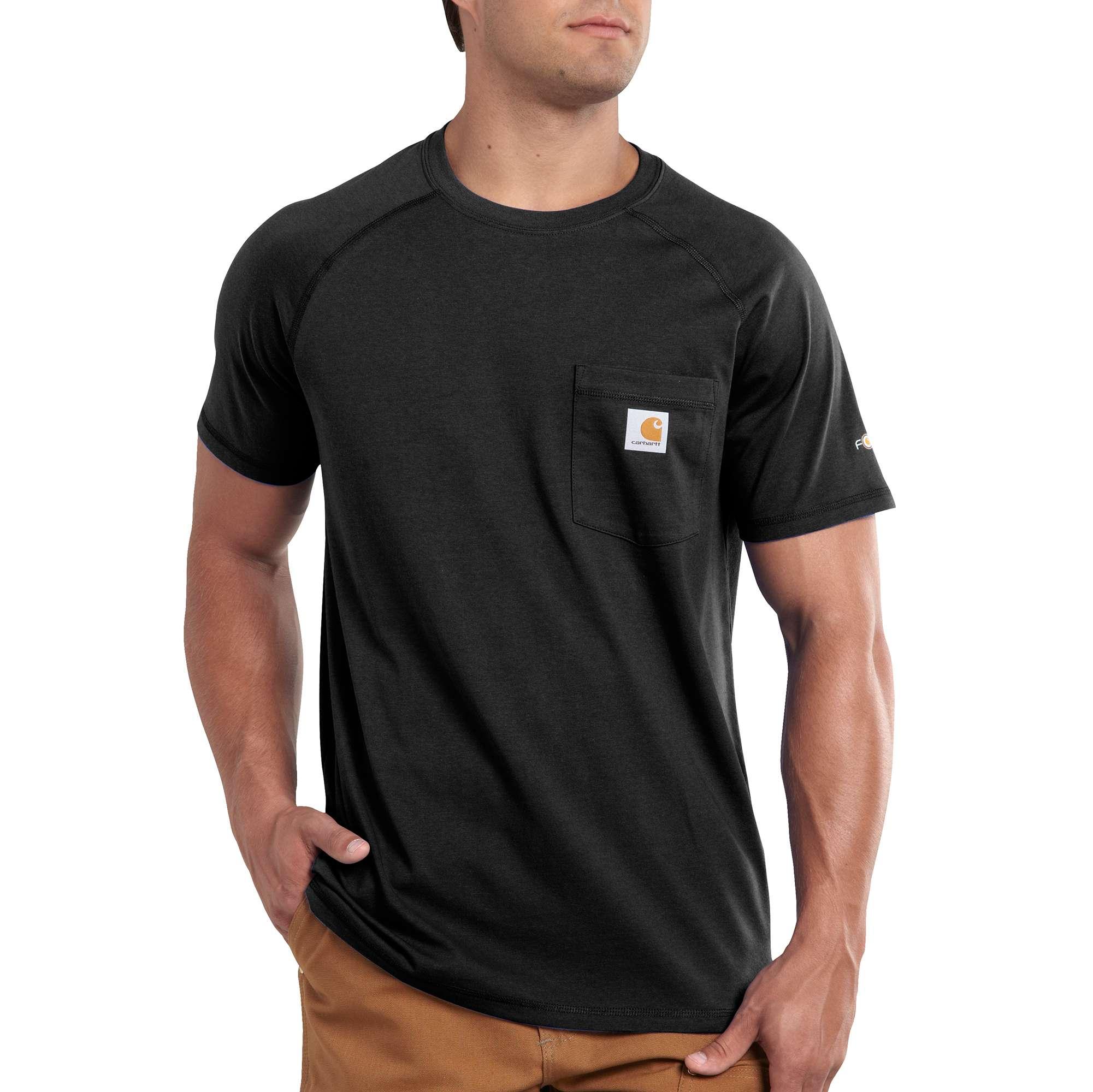 Men's Force Delmont Short Sleeve T-Shirt, Black, swatch