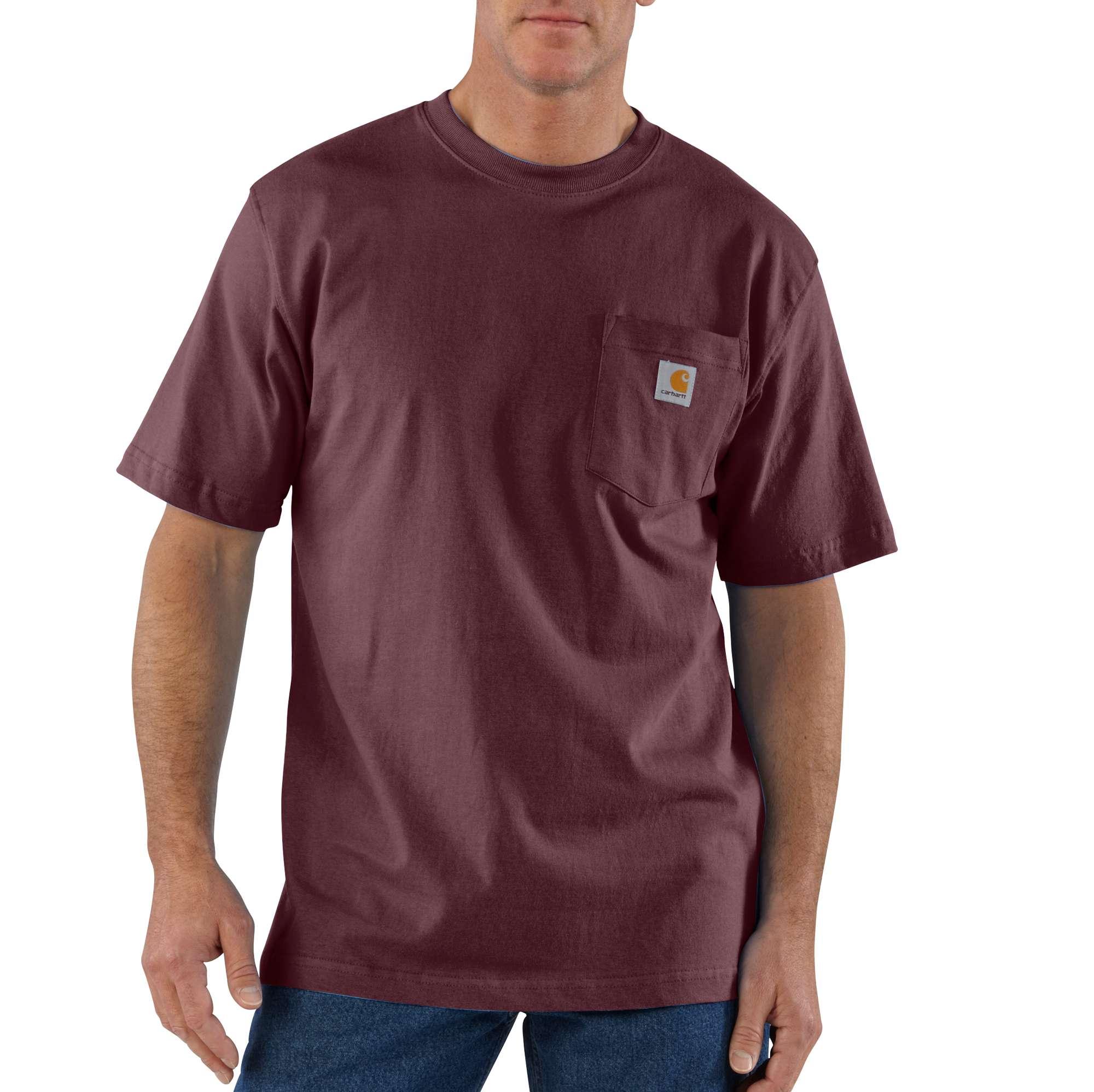 Men's Workwear Pocket Tee, Burnt Red, swatch
