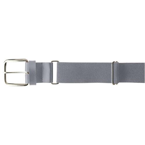 "Youth 1.25"" Leather Baseball Belt, Gray, swatch"