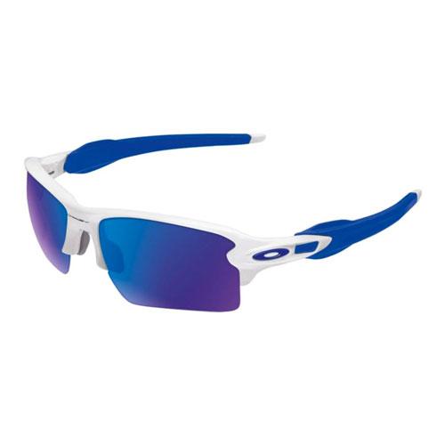 Flak 2.0 XL Fire Iridium Sunglasses, White/Blue, swatch