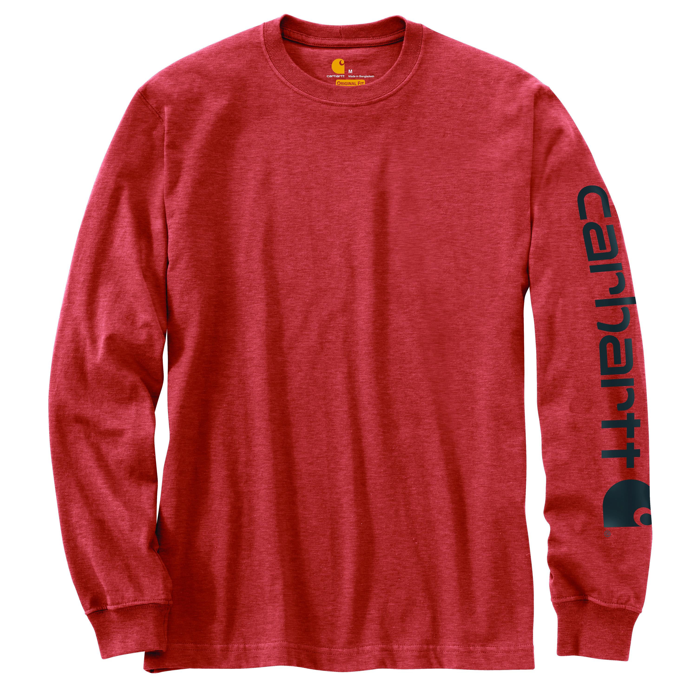 Men's Sleeve Logo Long Sleeve T-shirt, Orange, swatch
