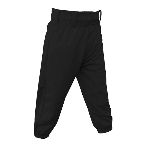 Youth Pull-Up Baseball Pants, Black, swatch