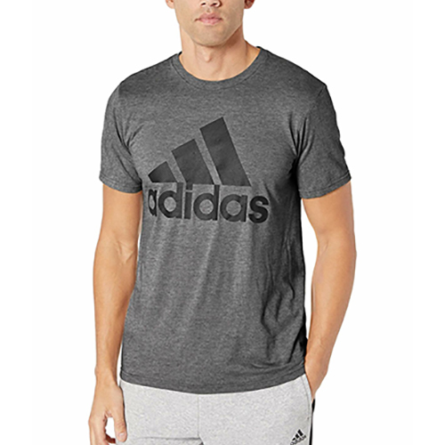 Men's Short Sleeve Badge of Sport Classic T-Shirt, Heather Gray, swatch