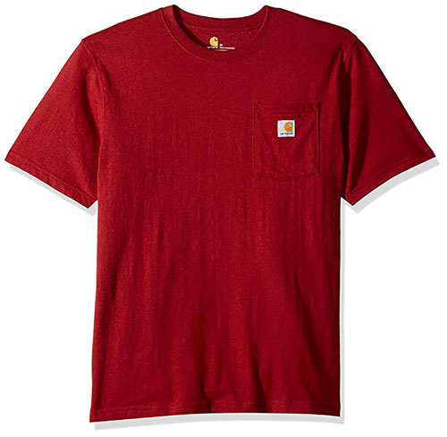Carhartt Workwear Pocket Tee, Burnt Red, swatch