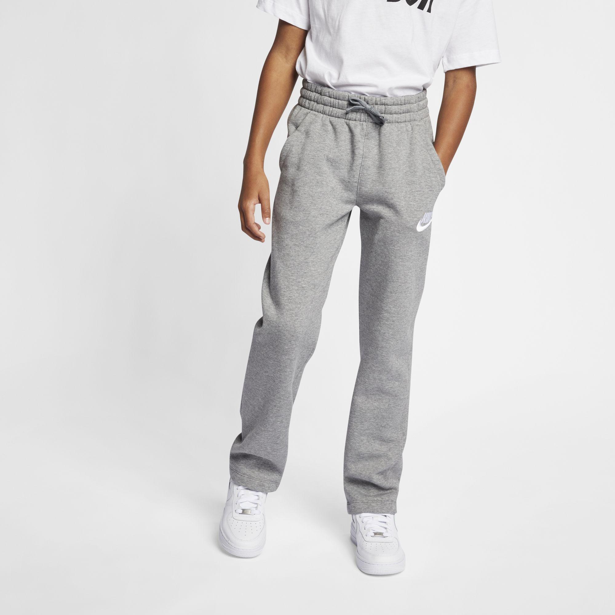 Boys' Sportswear Fleece Pants, Heather Gray, swatch