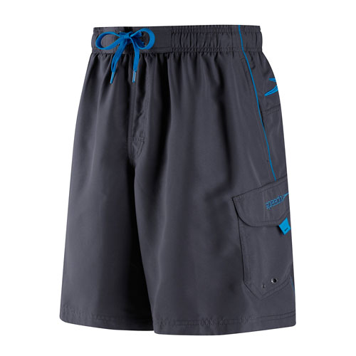 Men's Marina Volley Swimshort, Gray/Blue, swatch