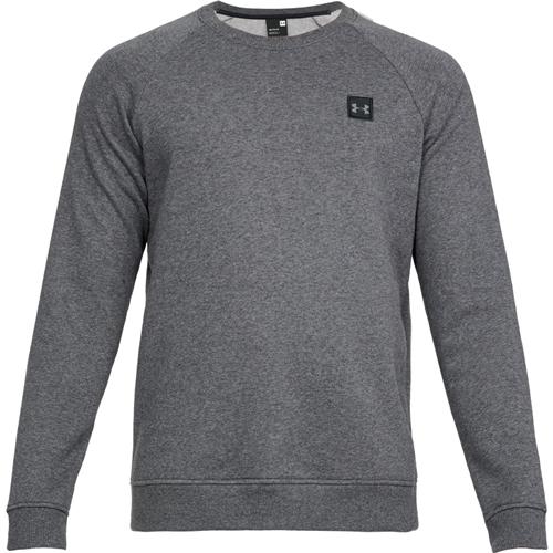 Men's Rival Long Sleeve Fleece Sweatshirt, Charcoal,Smoke,Steel, swatch