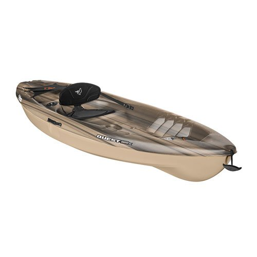 Quest 100x Angler Sit On Kayak, Black/Tan, swatch