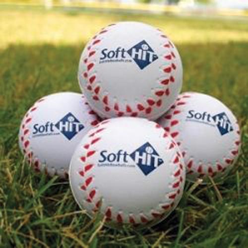 Seamed Foam Practice Baseballs, White, swatch