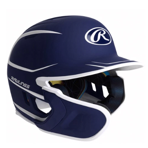 Junior MACH 2-Tone Matte Batting Helmet, Navy, swatch