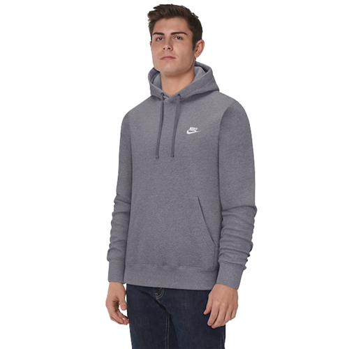 Men's Sportswear Club Fleece Pullover Hoodie, Charcoal,Smoke,Steel, swatch