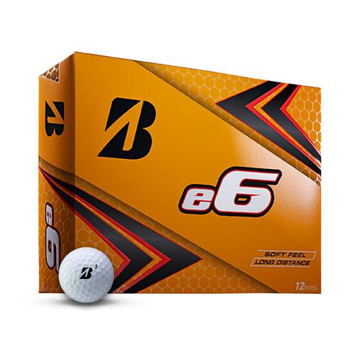 e6 SOFT Golf Balls, White, swatch