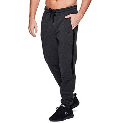 Men's CVC Fleece Tapered Jogger Pants, Charcoal,Smoke,Steel, swatch