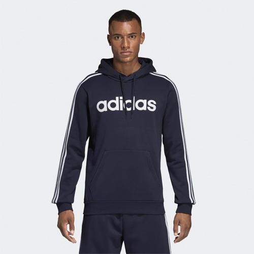 Men's Essentials 3-Stripes Pullover Hoodie, Navy, swatch