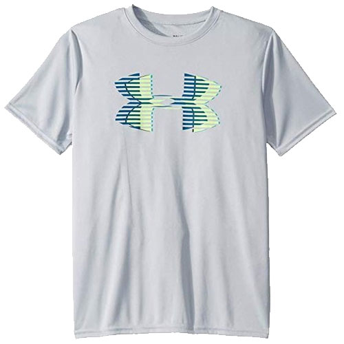 Boy's Tech Big Logo T-Shirt, Heather Gray, swatch