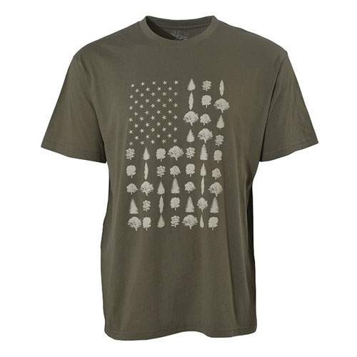 Men's Short Sleeve Tree/Flag Tee, , large