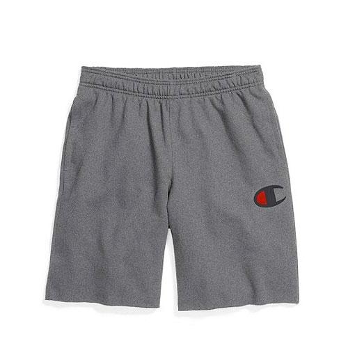 Men's Powerblend Fleece Shorts, Charcoal,Smoke,Steel, swatch