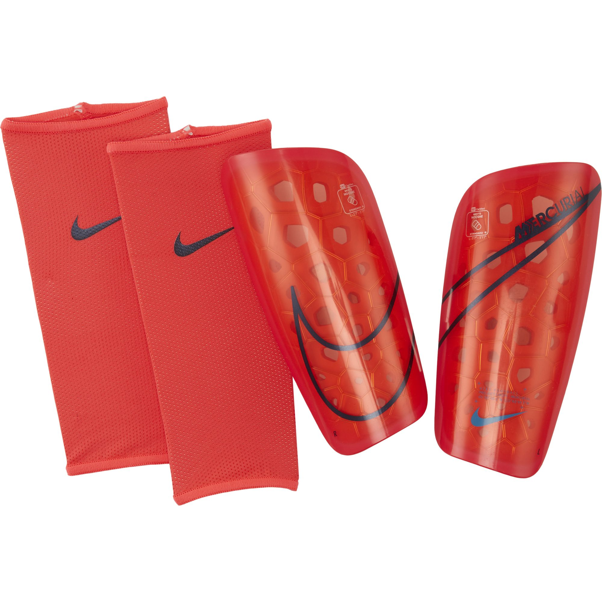 Mercurial Lite Shin Guards, Crimson, swatch