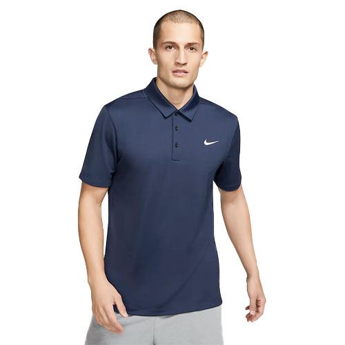 Men's Short Sleeve Football Polo, Navy, swatch