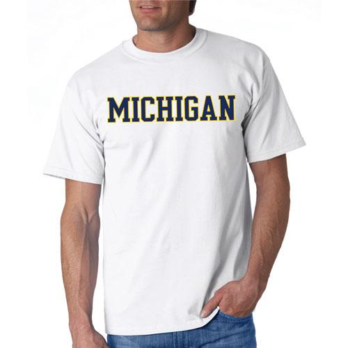 Michigan Straight Block T-Shirt, White, swatch