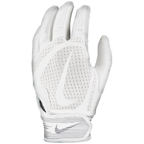 Men's Hurache Edge Batting Gloves, White/White, swatch