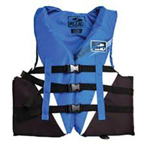 Men's 3 Buckle Vest, Blue/Gray, swatch