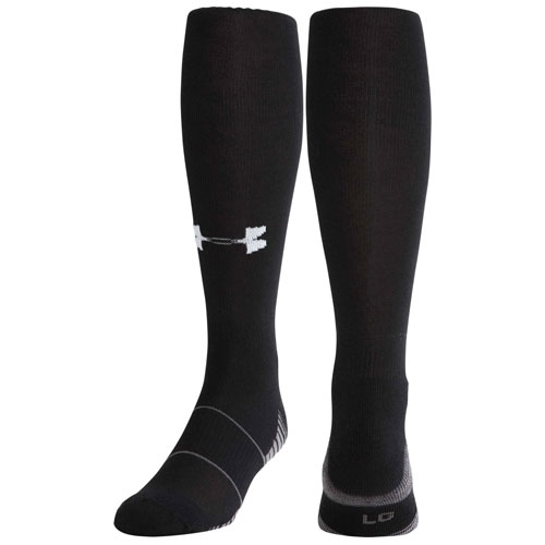 Team Football Over-the-Calf Socks, Black, swatch