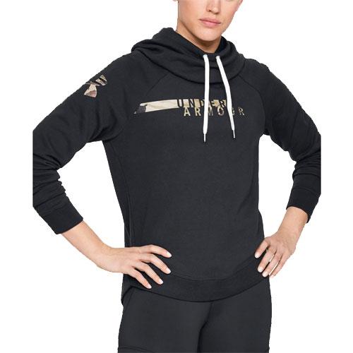 Women's Favorite Fleece Camo Logo Hoodie, Black, swatch