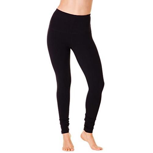 Women's Cotton High Waist Leggings, Black, swatch