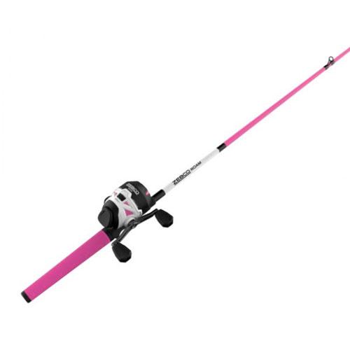 Roam 6' Spincast Combo, Pink/White, swatch