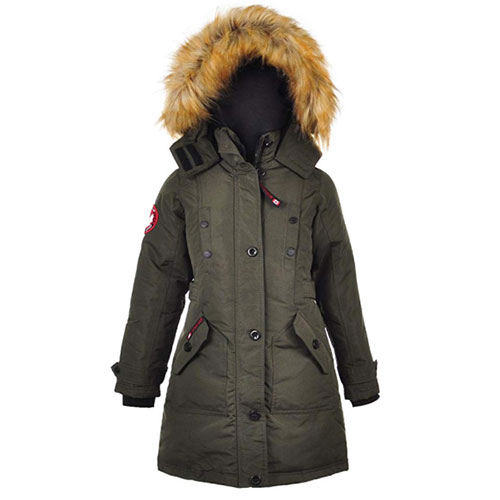 Girls Anorak Jacket  7-16, Black, swatch