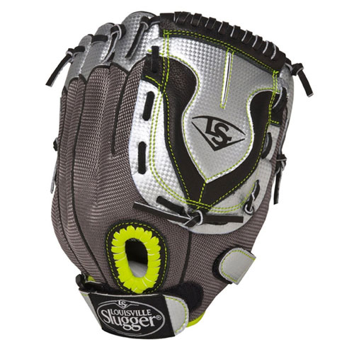 "Youth Fastpitch Diva 10.5"" Glove, Black/Gray, swatch"