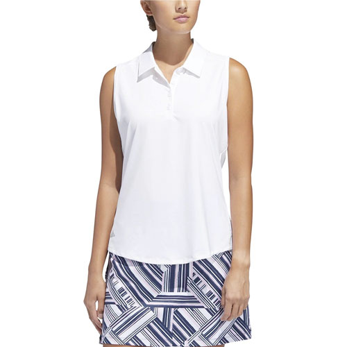 Women's Ultimate 365 Sleeveless Golf Polo, White, swatch