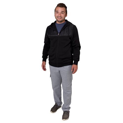 Men's Powerblend Fleece Cargo Pants, Heather Gray, swatch