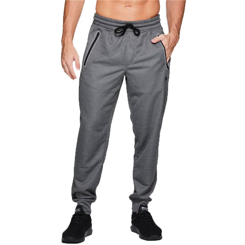 Men's Polyester French Terry Joggers, Charcoal,Smoke,Steel, swatch
