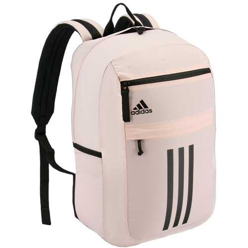League 3 Stripe Backpack, Pink/Black, swatch