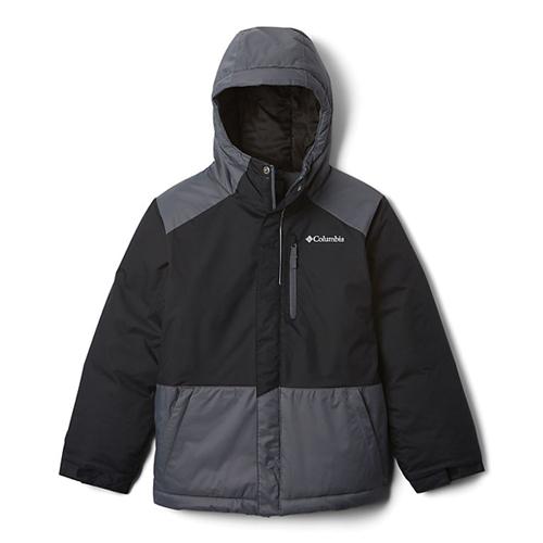 Boys' Lightning Lift Insulated Ski Jacket, Black/Gray, swatch