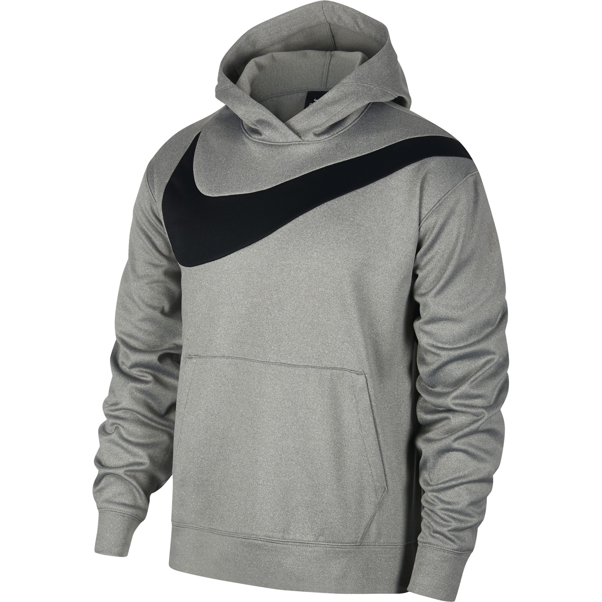 Men's Basketball Pullover Hoodie, Heather Gray, swatch