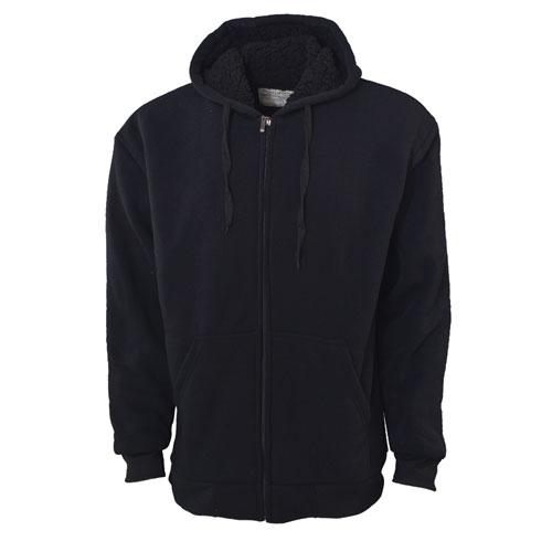 Men's Sherpa Hoodies, Black, swatch